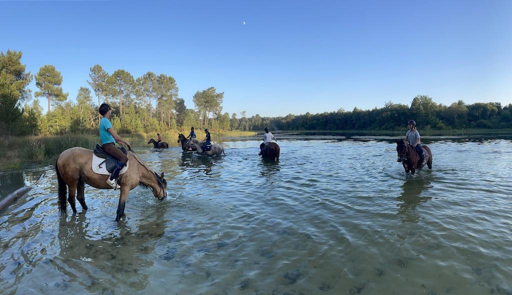 Balade à cheval à La Lagüe 3 août 2021